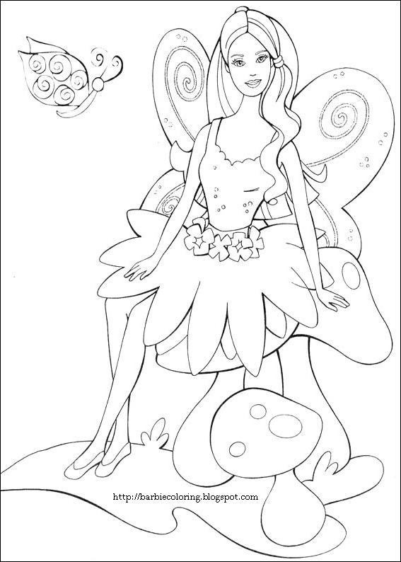 Barbie In A Fashion Fairytale Coloring Pages Coloring Pages Gallery
