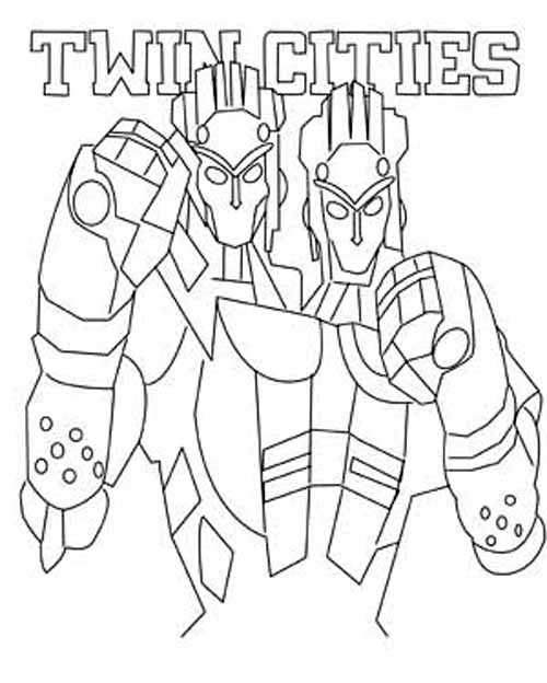 Real Steel Robots Coloring Pages