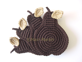 Crochet Coasters Chocolate Pear