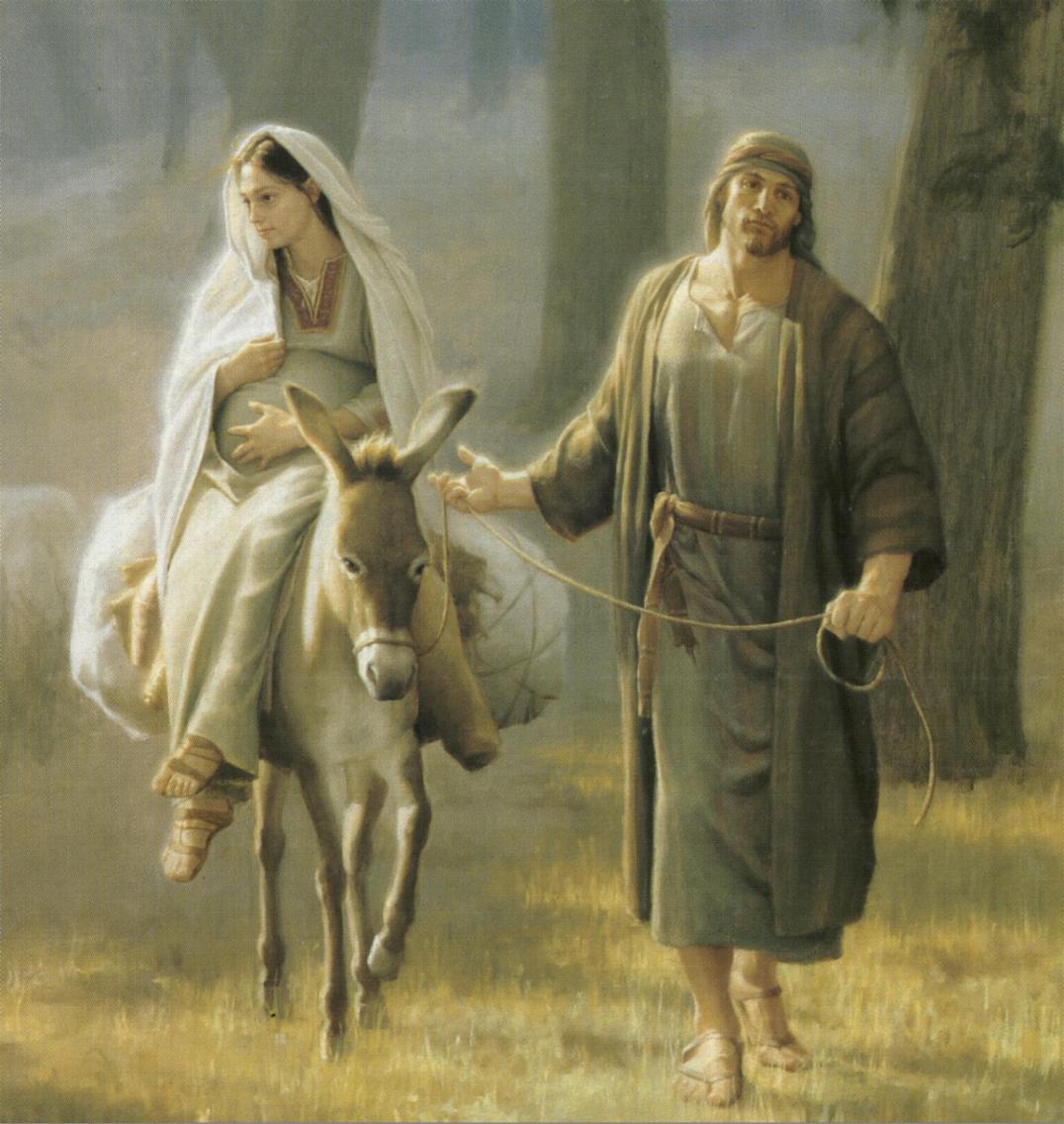 ... recibió su misión de tomar por esposa a la madre de dios hizo lo
