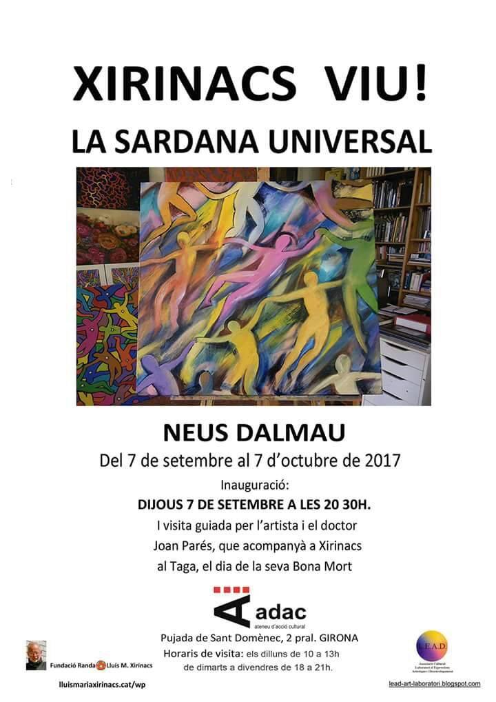 Exposició a l'ADAC de Girona de l'obra de Neus Dalmau 'Xirinacs Viu! La sardana universal'