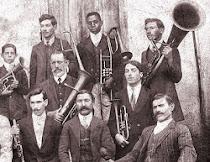 """A banda """"Lyra de Orpheu"""", do maestro Íalo Pierucci."""