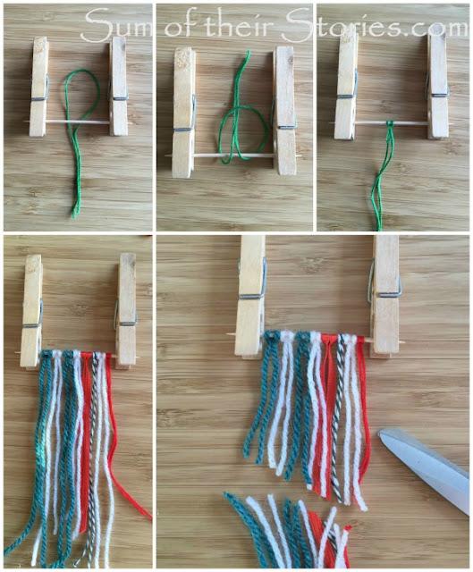 How to make Mini yarn wall hanging Christmas Tree Ornaments
