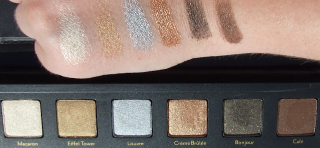 cargo cosmetics Let's meet in Paris Eyeshadow palette review swatches