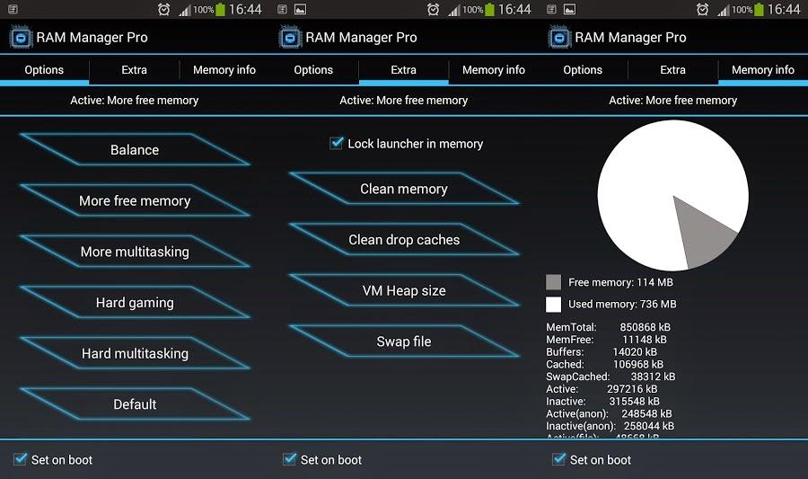 Cara Mudah Menambah Kapasitas RAM Android Dengan RAM Manager PRO
