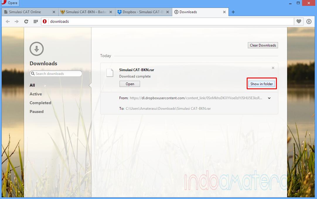 Menelusuri Letak Penyimpanan File Download Browser Opera Secara Cepat 2