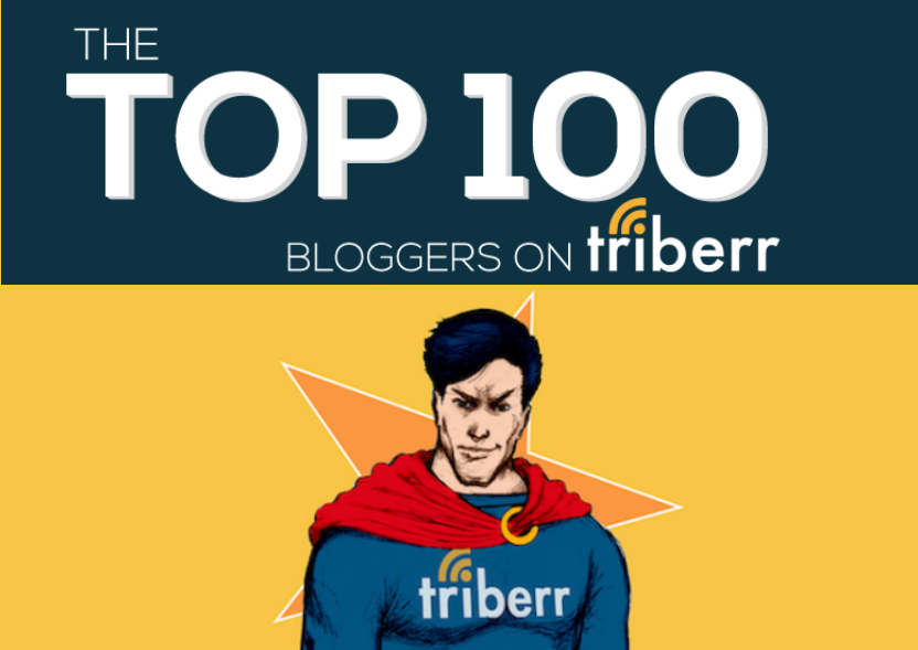 100 Top Bloggers To Follow On Triberr 2014 - infographic