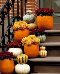 fall halloween decor for steps