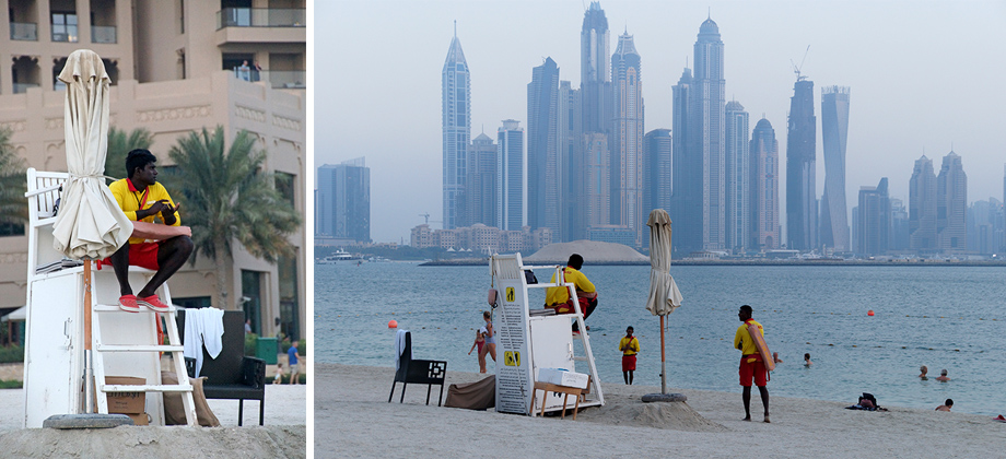 Ynas Reise BLog | VAE | The Palm, Jumeirah | Hotel Fairmont The Palm | am Strand