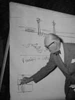le Corbusier dibujando