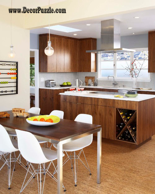 Top 15 Mid century modern kitchen design ideas - Dark Kitchen Cabinets With Black Appliances