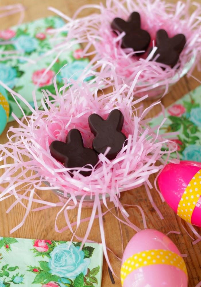allergy friendly homemade easter candies - chocolate sunbutter bunnies