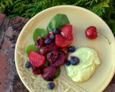 Twice-Roasted Beets with Fruit and Avocado Feta Cream (A Veggie Venture)