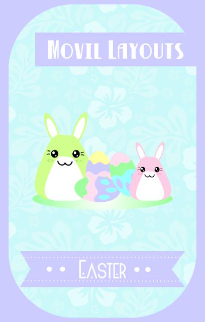 diseño fondo de conejos de colores para el movil