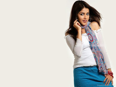 Glamour Girl Genelia D'souza Latest Wallpaper