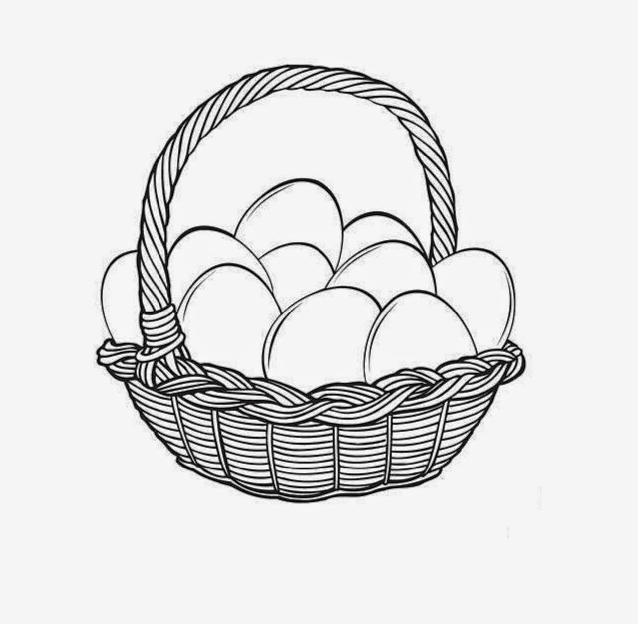 Easter Basket Coloring Drawing Free wallpaper