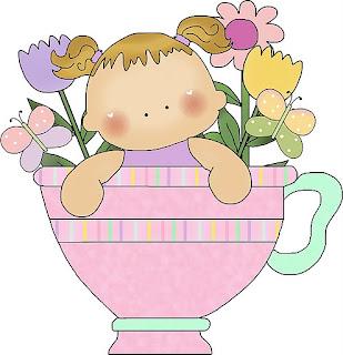imagens para decoupage de bebês dentro das xícaras