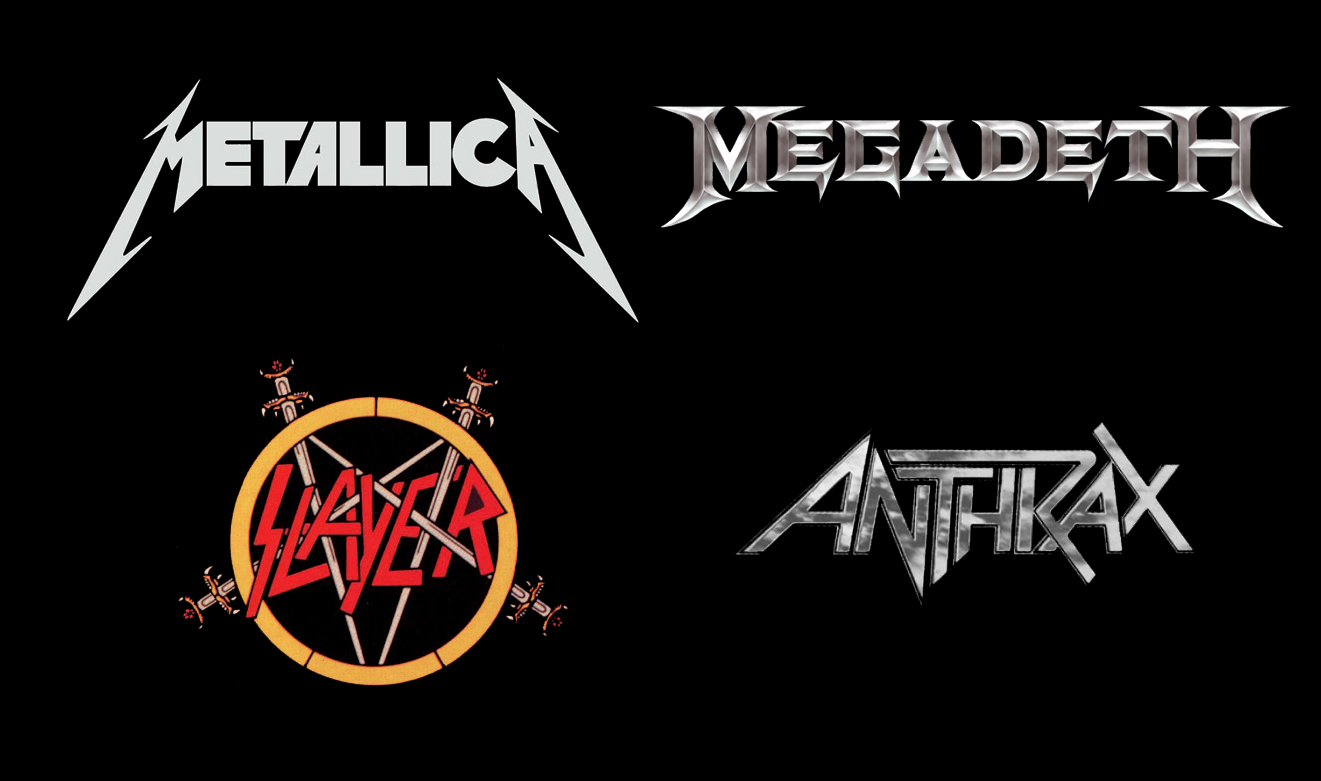 And here are the bands metallica slayer megadeth and anthrax