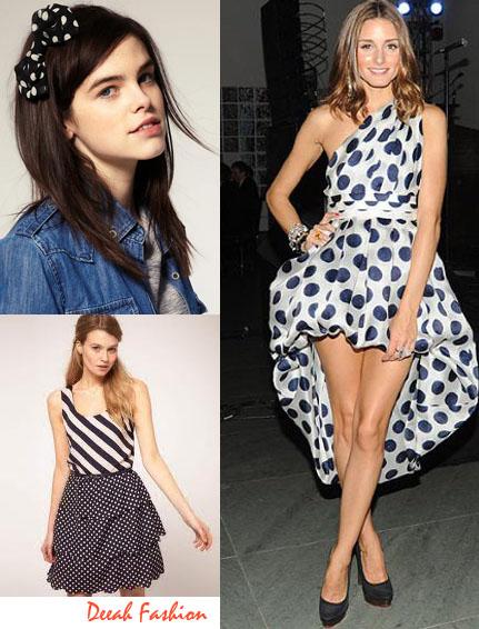Busana Motif Polkadots Trend Fashion 2013