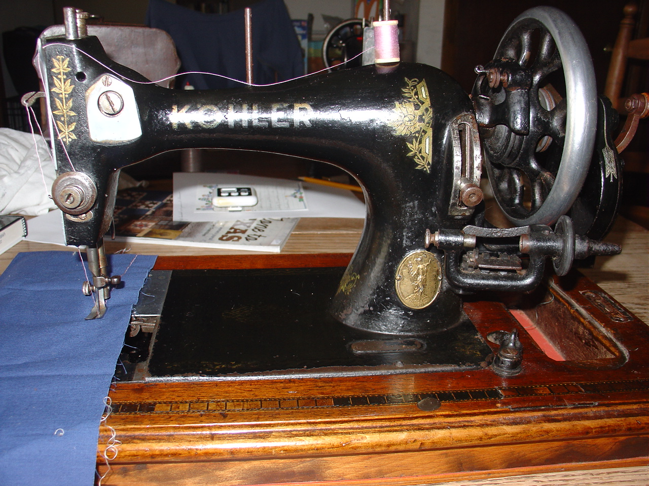 Treadlestitches: Kohler Hand Crank Sewing Machine for Sale