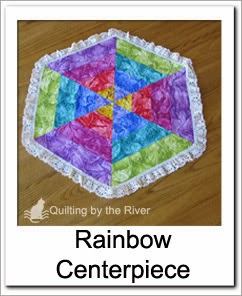 Rainbow Center piece Free Tutorial at Freemotion by the River