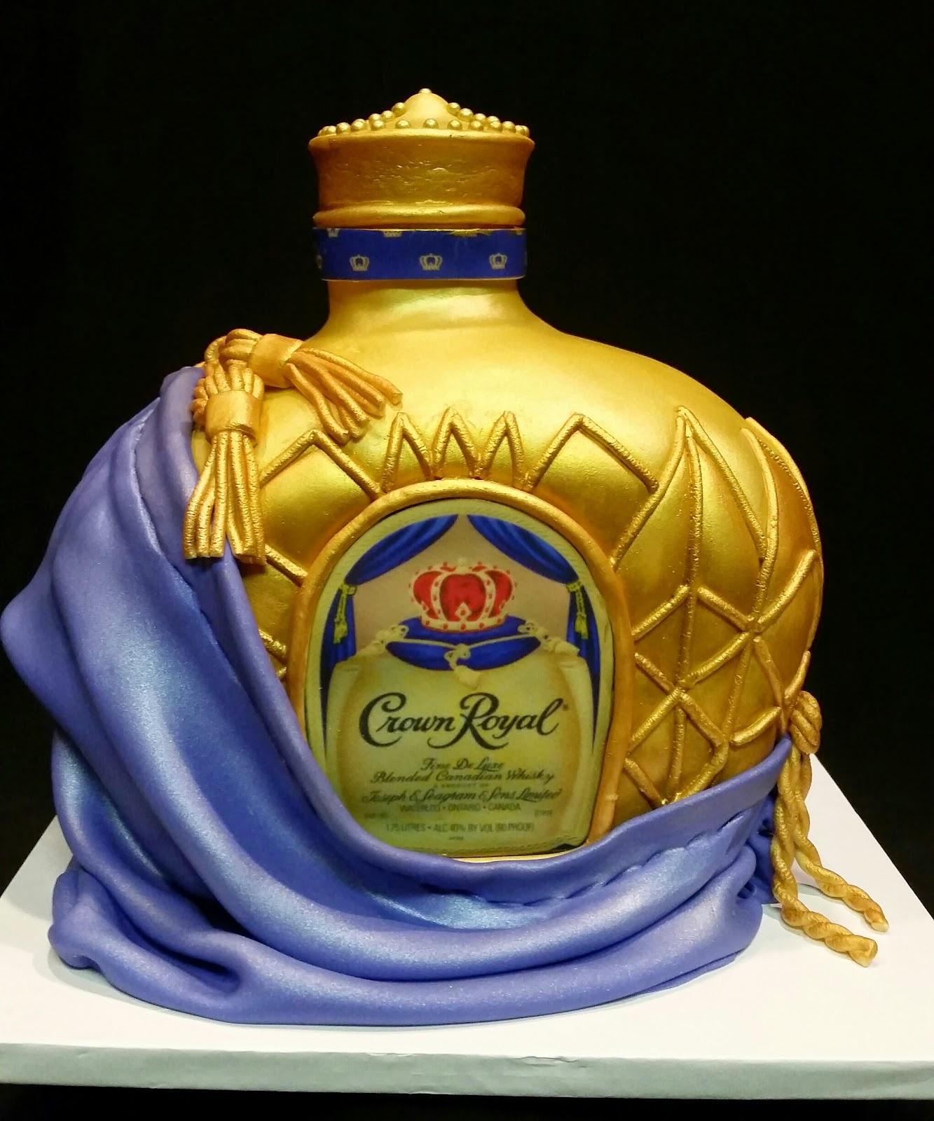 MyMoniCakes: Crown Royal bottle cake