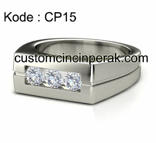 Cincin Perak Pria Kode CP15