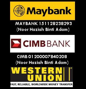 PAYMENT - CIMB &amp; MAYBANK