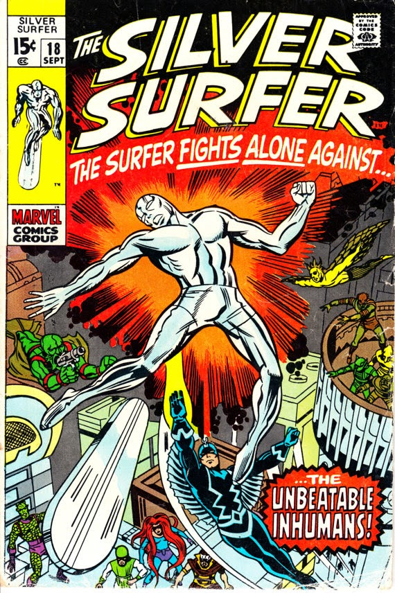 Silver Surfer (1968 1st Series) #18, September 1970 Issue - Marvel Comics - Grade VG/F