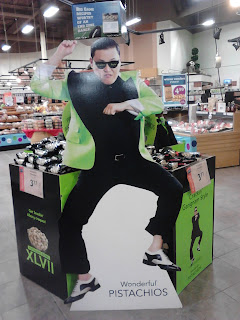 Psy pistachios grocery store display