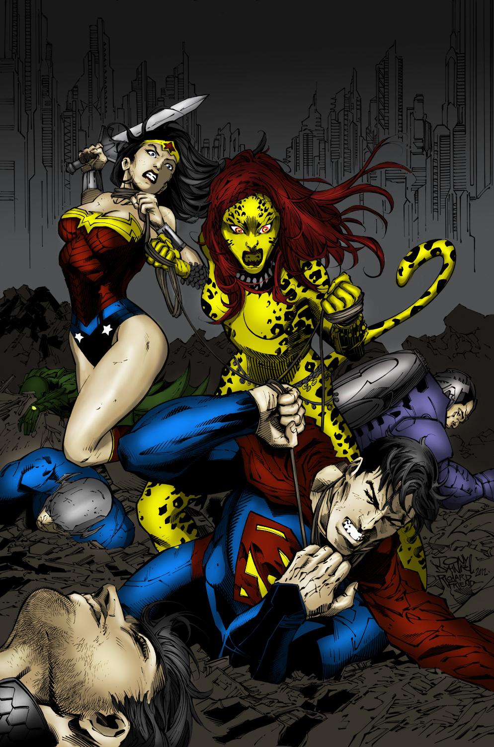 Nuevo coloreado de los personajes de la liga de justicia en Photoshop