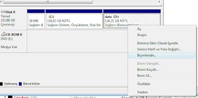 Windows 8 de HardDisk Nasıl Bölünür