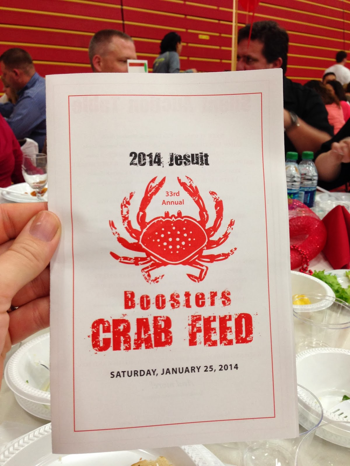 Cracking the night away at the Jesuit High School Crab Feed