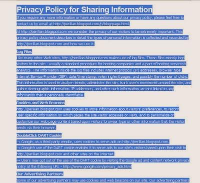 Tujuan dan Cara Membuat Privacy Policy di Blog