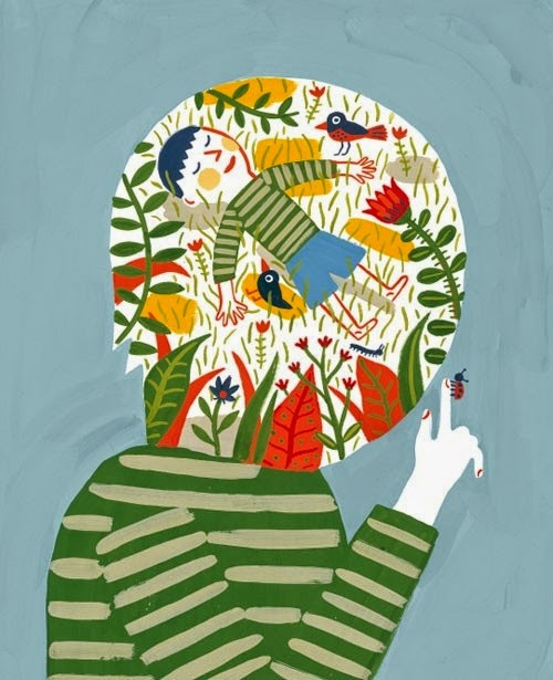 spring is in your head illustration by Laurent Moreau