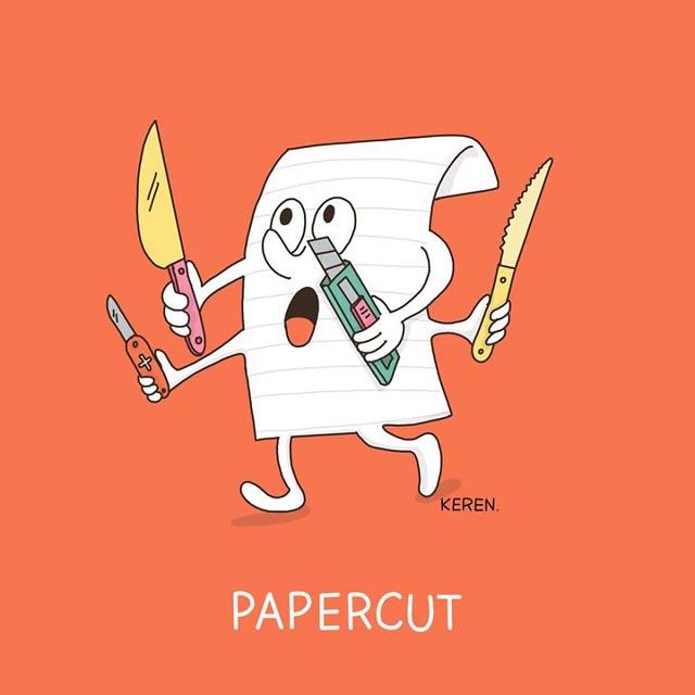 funny papercut
