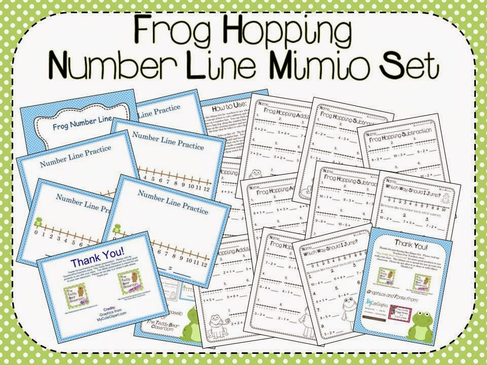 Frog Hopping Number Line on TPT