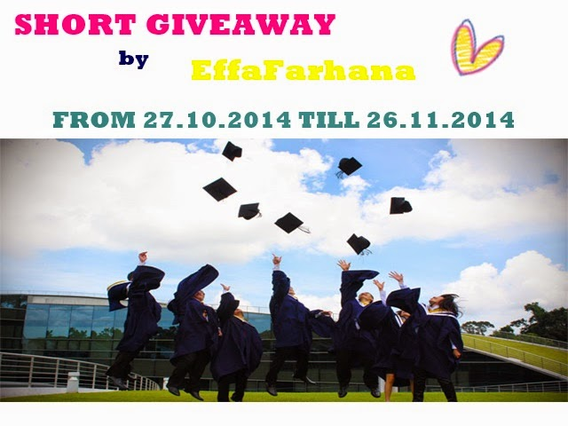 SHORT GIVEAWAY BY EFFAFARHANA