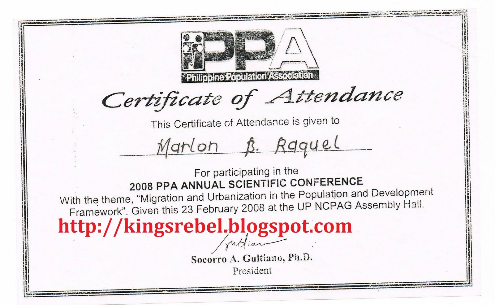 Conference Certificate Of Attendance Template