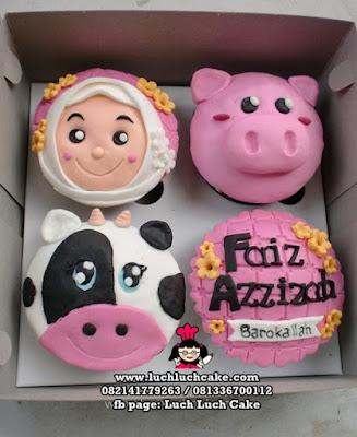 Cupcake 2D Cantik Tema Binatang Daerah Surabaya - Sidoarjo