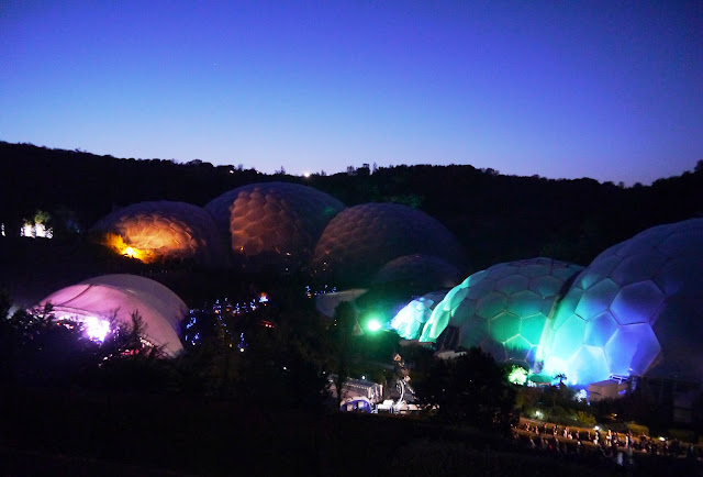 Eden Project at night