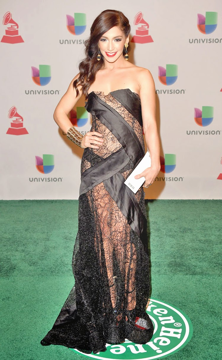 Laura Alemán at 2014 Latin Grammy Awards Red Carpet Arrivals