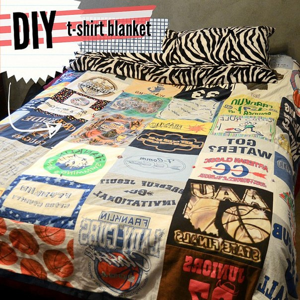 tutorial t shirt blanket