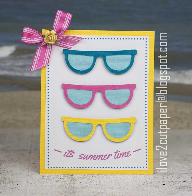 sunglasses, sun, core'dinations cardstock, ilove2cutpaper, LD, Lettering Delights, Pazzles, Pazzles Inspiration, Pazzles Inspiration Vue, Inspiration Vue, Print and Cut, svg, cutting files, templates,