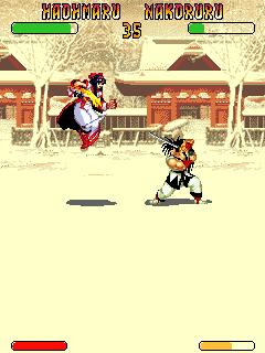 Screenshots of the Samurai Shodown for java mobile, phone.