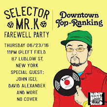 6/23(Thu)Downtown Top Ranking Mr K Farewell Party @ Left Field