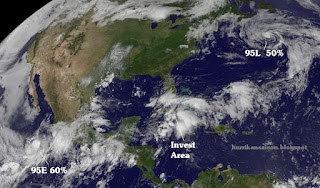 Situation Hurrikansaison aktuell mit Satellitenbild, Hurrikansaison 2012, Atlantische Hurrikansaison, Pazifische Hurrikansaison, Vorhersage Forecast Prognose, aktuell, Satellitenbild Satellitenbilder, Chris, Daniel, Juni, 2012, Florida, Mexiko, Kuba, Yucatán,