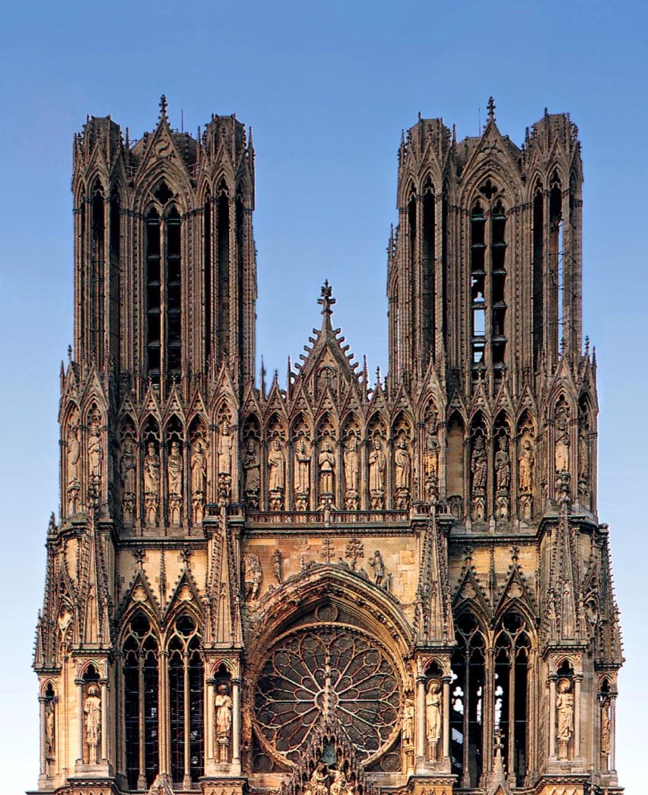 fachada da cathedral de reims map