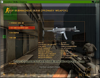 Point Blank K-1 for MP5 in Counter Strike: Source VGUI
