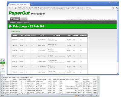 изображение Вид окна программы счетчика страниц